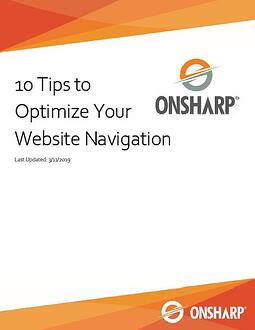 Screenshot of the 10 Tips to Optimize Your Website Navigation PDF